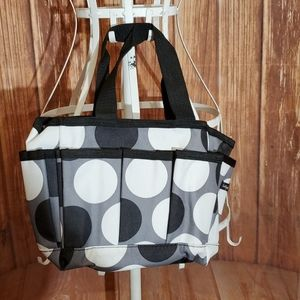 Thirty One Bag with Black and White Pattern